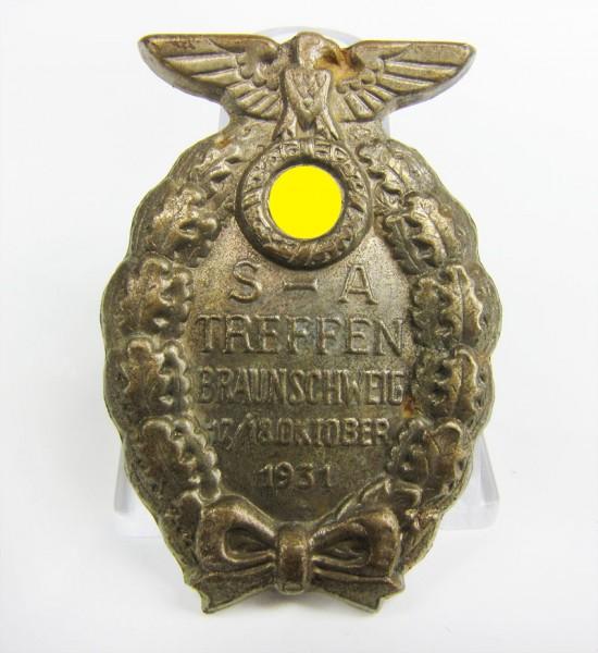 Abzeichen SA Treffen Braunschweig 1931 - 2. Form