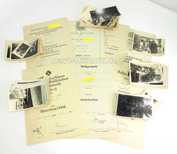 7 Urkunden und ca.140 Fotos eines Pioniers der 170 ID