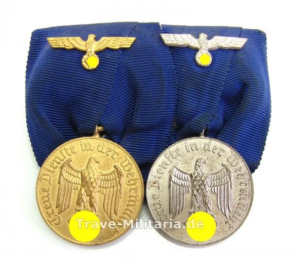 2er Ordenspange Wehrmachtsdienstauszeichnungen 4 und 12 Jahre