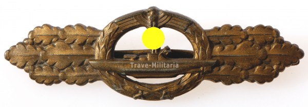 U-Bootfrontspange in Bronze der Kriegsmarine