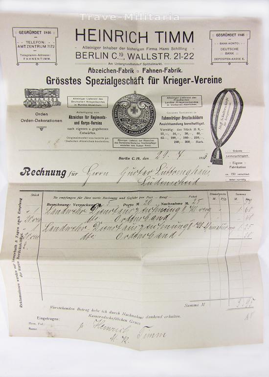 preu en landwehr dienstauszeichnung 1 klasse 1868 im etui mit rechnung ebay. Black Bedroom Furniture Sets. Home Design Ideas